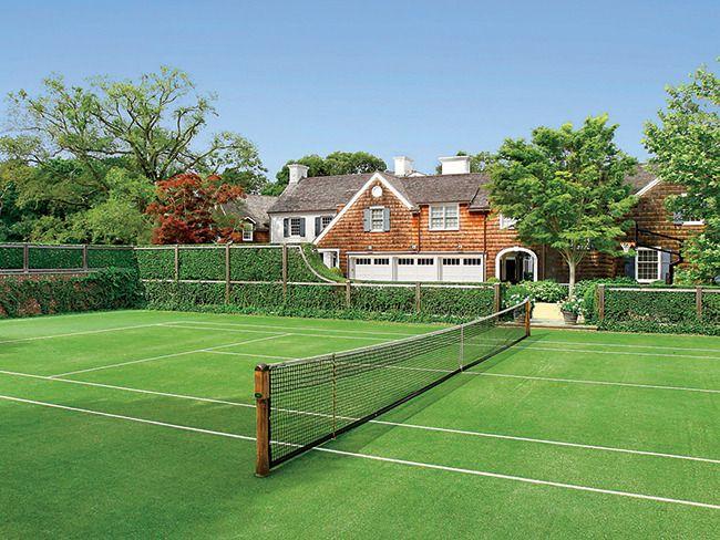 The Homeu0027s Grass Tennis Court.
