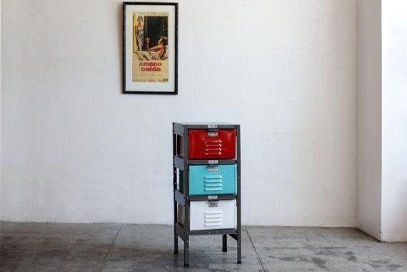 1 x 3 Vintage Locker Basket Unit with Mix by RehabVintageLA, $450.00