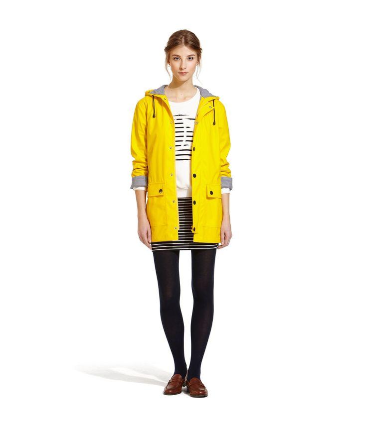 die besten 25 gelber regenmantel ideen auf pinterest urban outfitters jacken yellow jacket. Black Bedroom Furniture Sets. Home Design Ideas