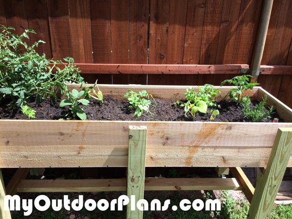 296 best free garden plans images on pinterest - Waist high raised garden bed plans ...