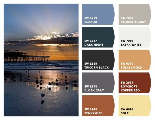 tans, blues, browns, navy, boys, earthen, water, beach, shore  Paint colors from Chip It! by Sherwin-Williams #SherwinWilliams #chipit