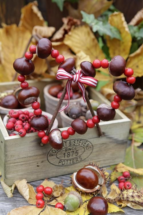 Make beautiful decorations with chestnuts