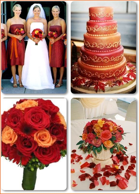 Ok, to give an idea...I want my bridesmaids dresses to either be a burnt orange or yellow color, and I want to do something different with the ribbon....that will be worn differently and will be multicolor.