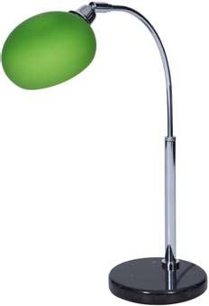 'Retro' Table Lamp With Stylish Lime Green Glass Shade