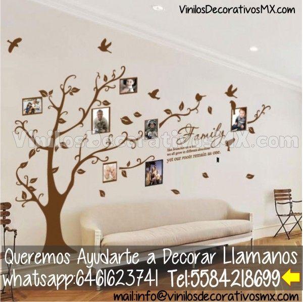 Vinilos de arboles para decoracion de paredes de salas for Vinilos decorativos interiores