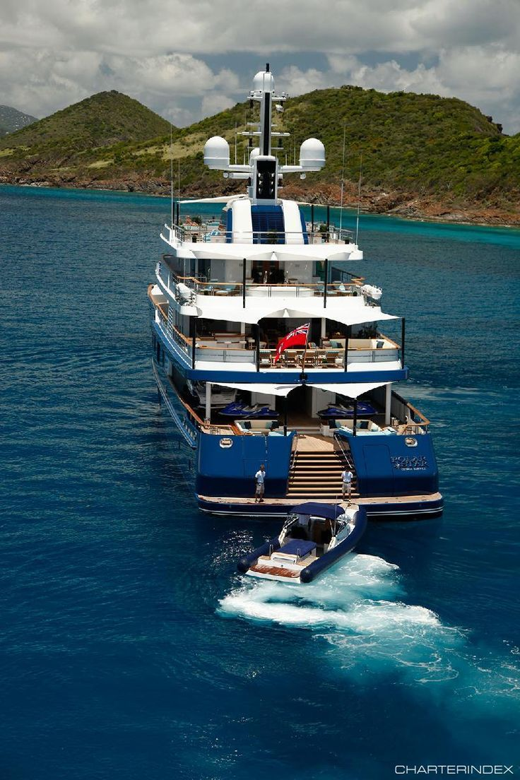 Stern with tender - POLAR STAR Charter Yacht | yachts ...