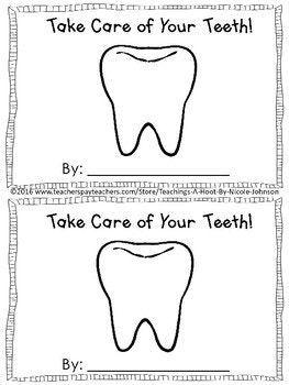 FREE dental health mini-book