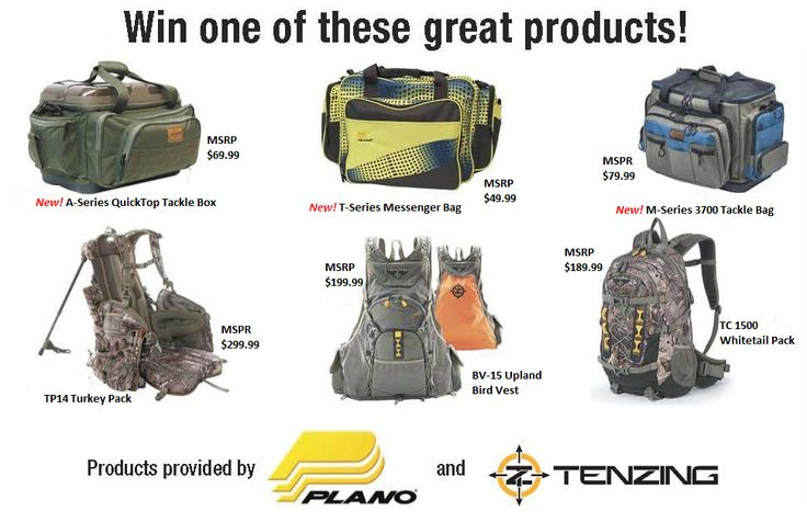 Every Friday for six weeks, beginning October 9th, MidWest Outdoors Magazine & Television will select a winner of an outdoor bag from Plano or Tenzing!