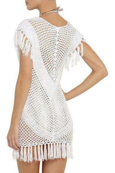 Blusa a crochet вязаная туника или платье крючком