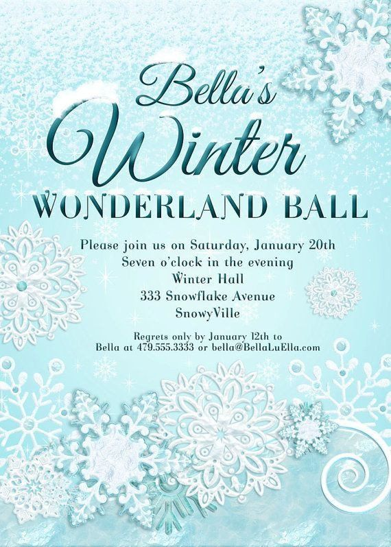 free winter wonderland invitations
