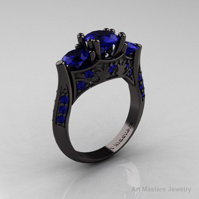 black gold rings - i don't dig jewelery too much, but this i could wear.