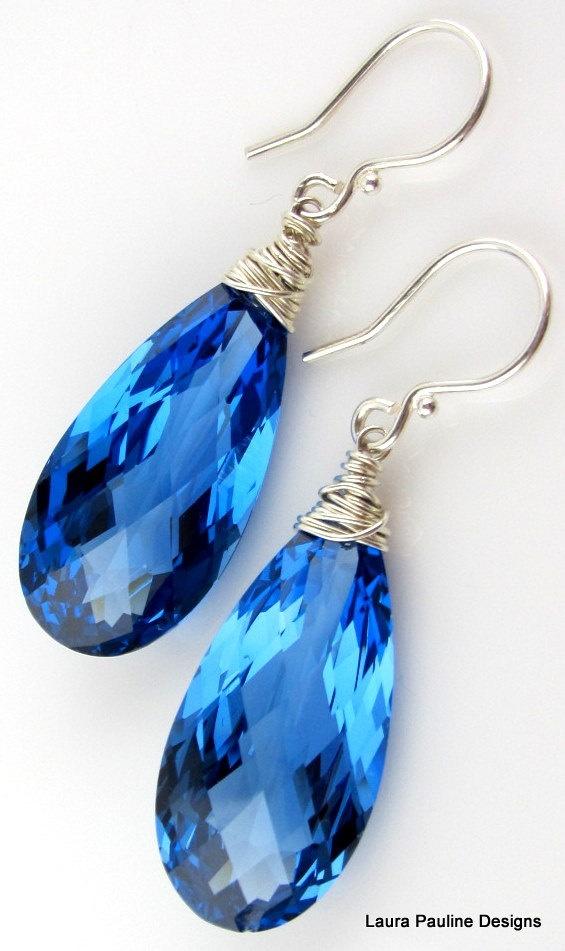 Blue | Blau | Bleu | Azul | Blå | Azul | 蓝色 | Color | Form | Texture |     London Blue Topaz Earrings