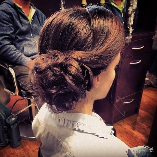 Soft updo with a vintage twist!