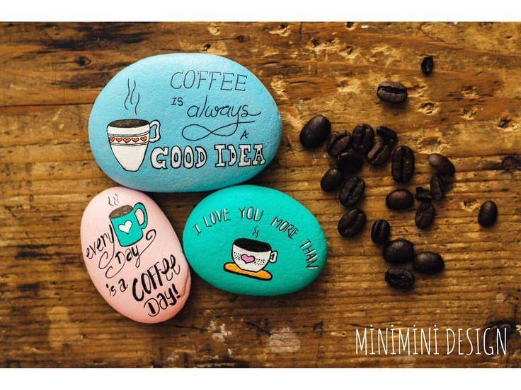 """124 Me gusta, 4 comentarios - Seval Yılmaz (@miniminidesign) en Instagram: """"Kahve sevenler için en tatlı hediye ☕ İstediğiniz mesajlari yazabiliriz 💛😉 #coffee #coffeeday…"""""""