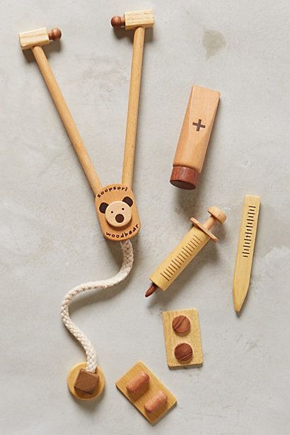 wooden toy doctor's kit for kids #giftsforkids #anthrofave Brooke Kerr