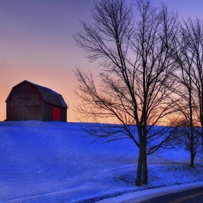 Winter Sunrise Tioga County PA Country LivingSunrisesSouthern