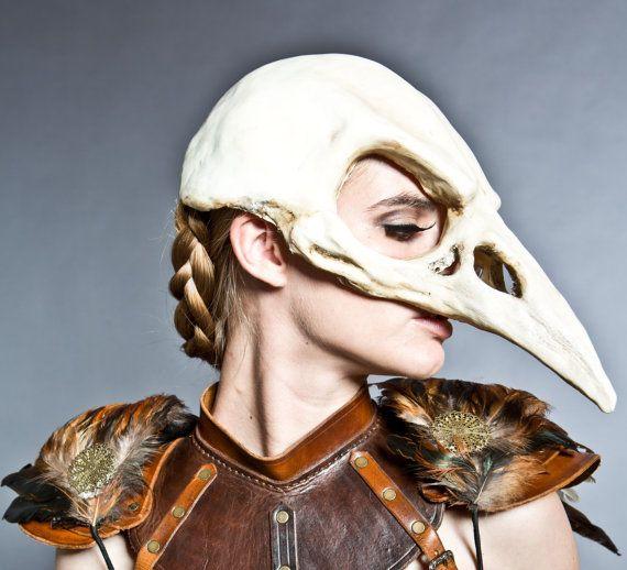 Bird skull mask in Bone finish by HighNoonCreations on Etsy, $95.00