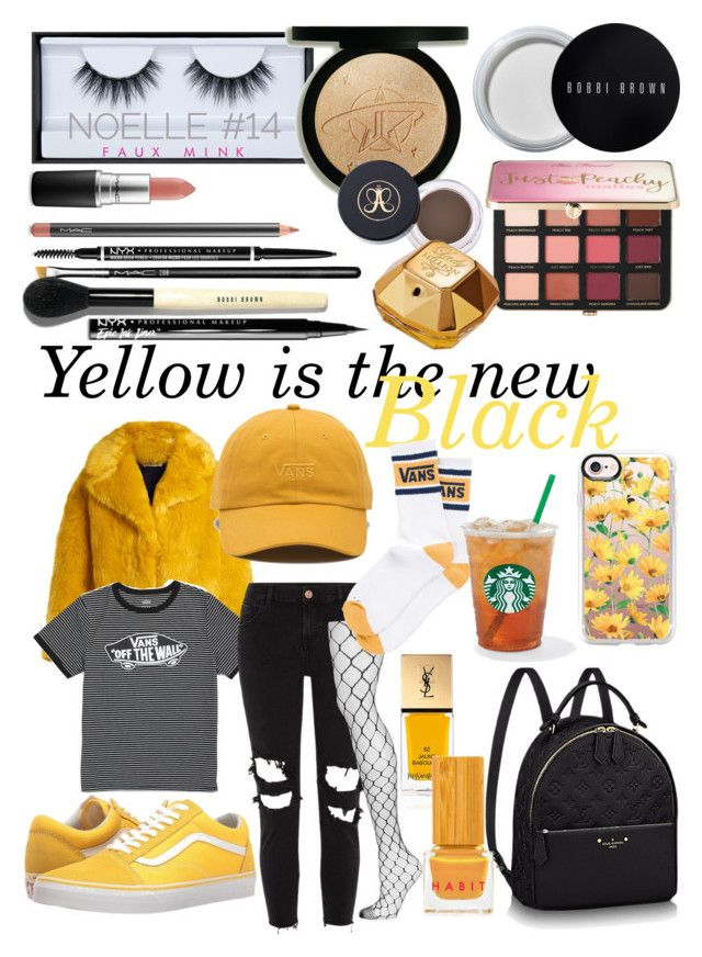 """""""YELLOW IS THE NEW BLACK💛🖤"""" by by-miaxx on Polyvore featuring Mode, Huda Beauty, Diane Von Furstenberg, Vans, River Island, Topshop, MAC Cosmetics, NYX, Bobbi Brown Cosmetics und Sephora Collection"""