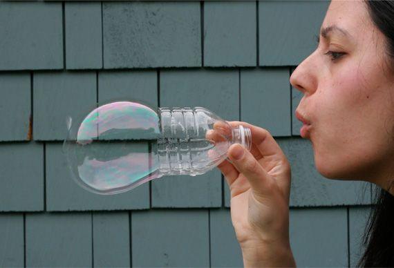 Soplador reciclado de burbujas en Manualidades infantiles para bebés, niños y niñas