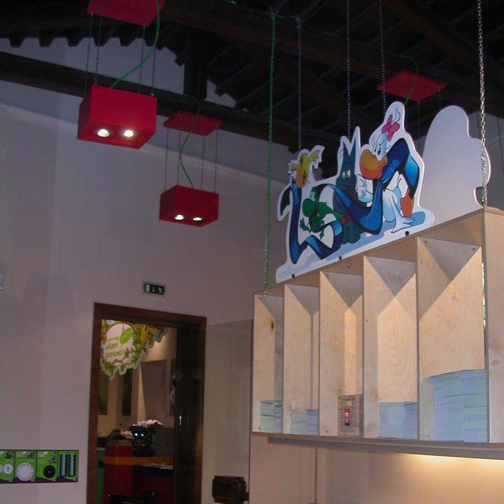 Museo interattivo - Treviso, ITaly: Cartoon Lighting, by Ivano Bressan #ledlab #lightingdesign #museum #led #lightingdesigners #lighting #CreativeGallery #treviso | www.ledlab.it
