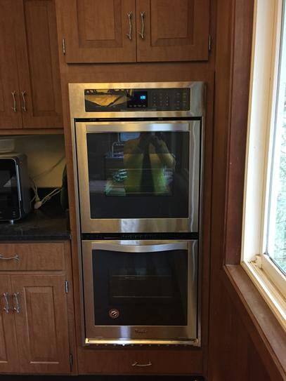 Whirlpool 24 in. Double Electric Wall Oven Self-Cleaning in Stainless Steel WOD51ES4ES at The Home Depot - Mobile