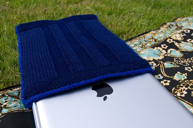 Knitted iPad sleeve