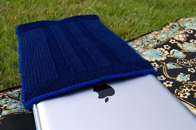 Knitted iPad sleeve