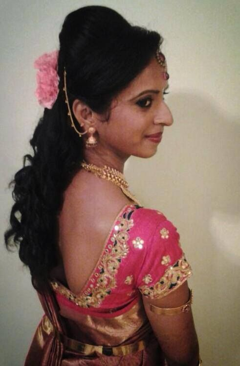 Indian Bride 39 S Reception Hairstyle Created By Swank Studio Indian