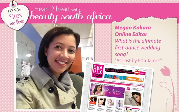 Megan from BeautySouthAfrica shares her ultimate first dance song!