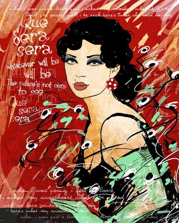 Que Sera Sera / original illustration ART Print by studio3ten, $20.00