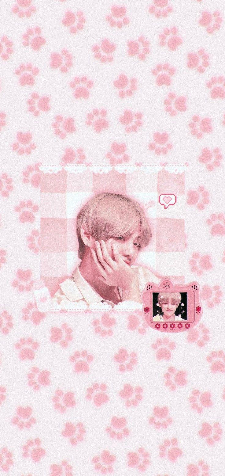 Wallpapers Kpop, Kpop Backgrounds, Cute Wallpapers, Soft Wallpaper, Locked Wallpaper, Taehyung, Bts Cute, New Theme, Bts Lockscreen