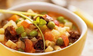 COMIDINHAS FÁCEIS E SAUDÁVEIS: Sopa de legumes com macarrão