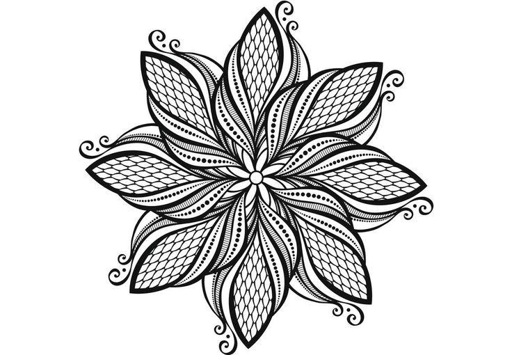 Coloriage gratuit à imprimer - Coloriage anti-stress et mandala gratuits pour adulte | Coloring ...