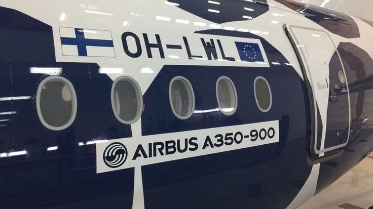 Finnair A350-900 Marimekko Kivet livery