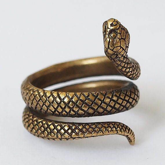 Snake ring, Snake jewelry, Snake rings, Snakes, Size 5,5 ring, Brass ring, Metal ring, Brass jewelry