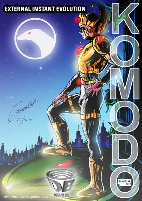Efek terkena meteor yang berisi organisme renik, menjadikan Rangga mejadi pahlawan super KOMODO