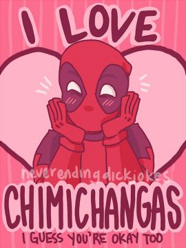 Deadpool Valentines Day Card