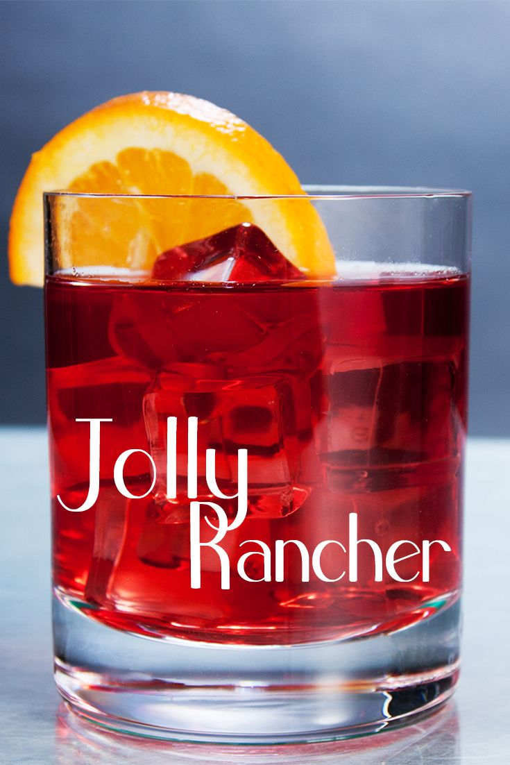 The Jolly Rancher is a fun, super easy vodka cocktail with green apple, peach, and cranberry that has a similar taste to the popular candy.