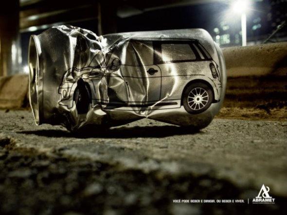 """""""Você pode beber e dirigir, ou beber e viver"""": campanha da Abramet por segurança no trânsito"""