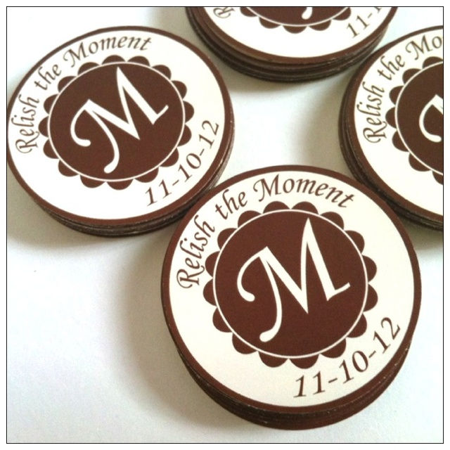 Custom initial Monogram stickers. Classy personalized gift labels. Custom colors and font style. http://etsy.me/WyvpXK
