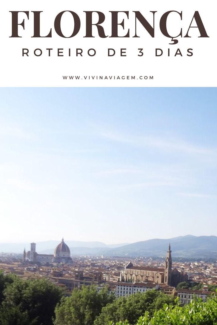 Florença é uma verdadeira galeria de arte a céu aberto. Tudo nessa linda cidade italiana transpira arte, cultura e história. Além dos museus e galerias de arte, é possível esbarrar com grandes obras pelas ruas e praças da cidade, talvez por esse motivo Florença é conhecida como o berço do Renascimento. Nós estivemos em Florença em junho de 2015 em nossa primeira viagem à Europa e decidimos fazer um roteiro de 3 dias por essa cidade tão especial.