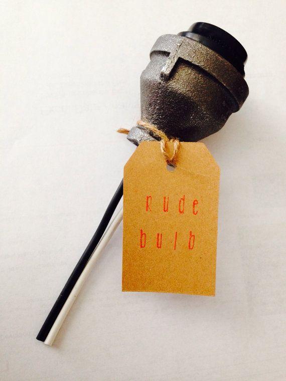 Best 25 lamp socket ideas on pinterest industrial for Industrial pipe light socket