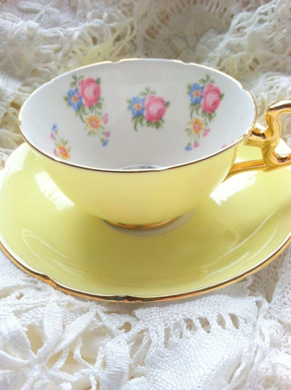 Vintage Signed Royal Grafton Bone China Teacup by MariasFarmhouse, $50.00