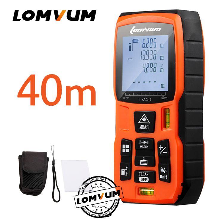 LOMVUM 40 m fita métrica trena medidor régua Laser Rangefinders Medidor de Distância medidor range finder Digital lazer metreler