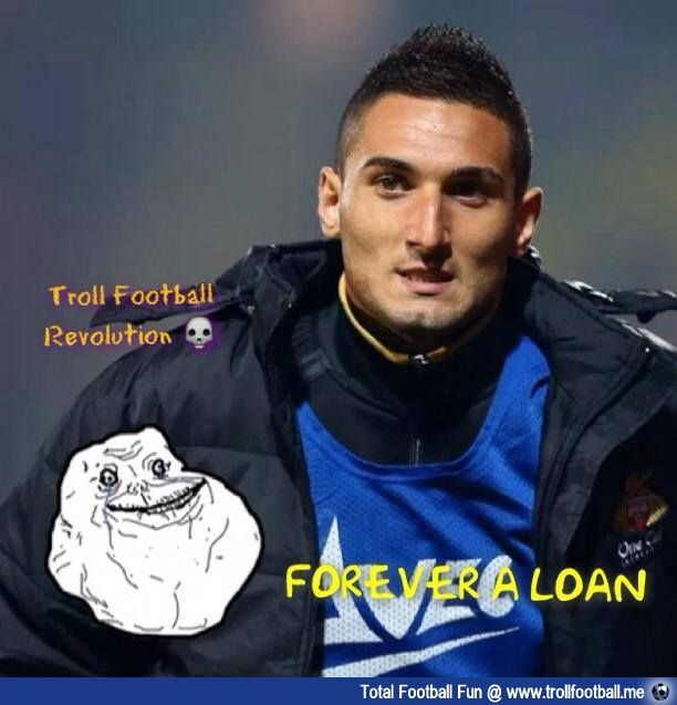 #Federico #Macheda - More than 4 years on loan & counting ... #football #soccer #Trollfootball #FedricoMacheda #OnLoan