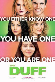 The DUFF (2015) Poster. I am so excited for this movie.  I WANT THE BOOK SOOOOO BAD!!!! GUYS MAKE IT MY BDAY PRESENT!!!