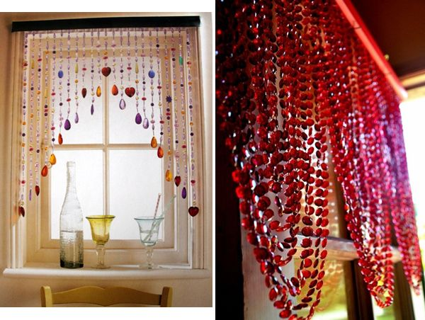 creative alternative window treatments add an unexpected touch to the decor - Window Decor