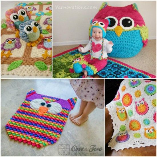 how to make a crochet owl rug