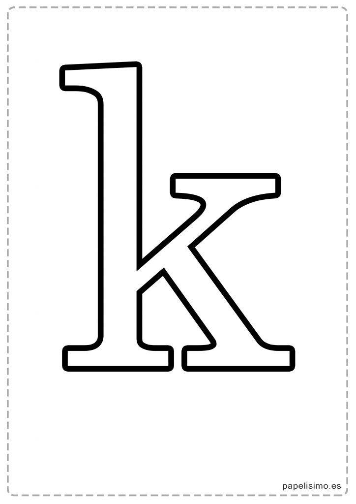 K Abecedario Letras Grandes Imprimir Minusculas