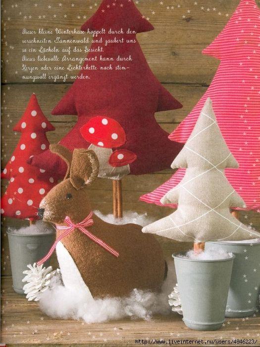 Plantilla para hacer rboles de navidad en tela x 39 mas - Arbol de navidad de tela ...
